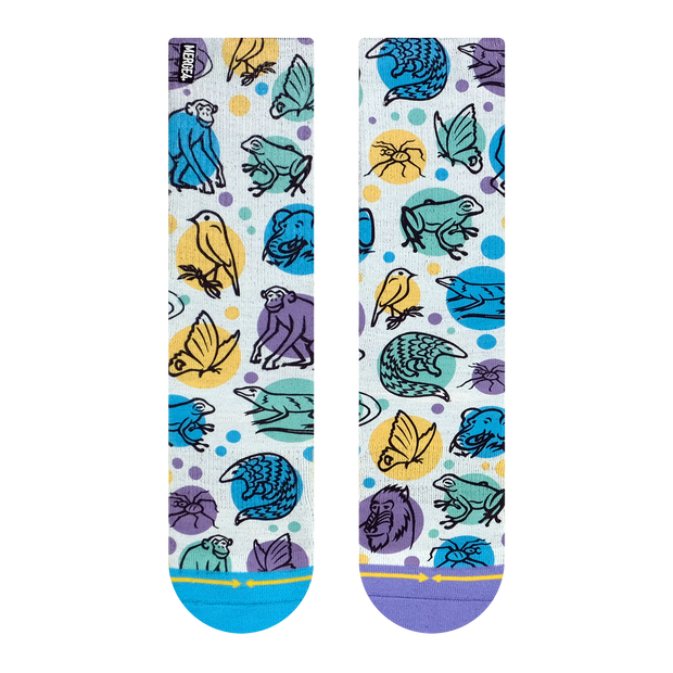 Unisex Merge 4 Jane Goodall Endangered Species Crew Sock