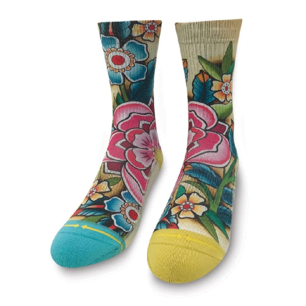 Women's Merge 4 Kirby's Bloom Crew Sock