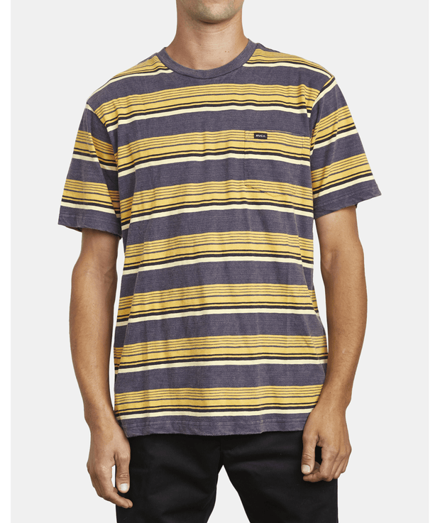 Men's RVCA Ventura Stripe Short Sleeve Tee