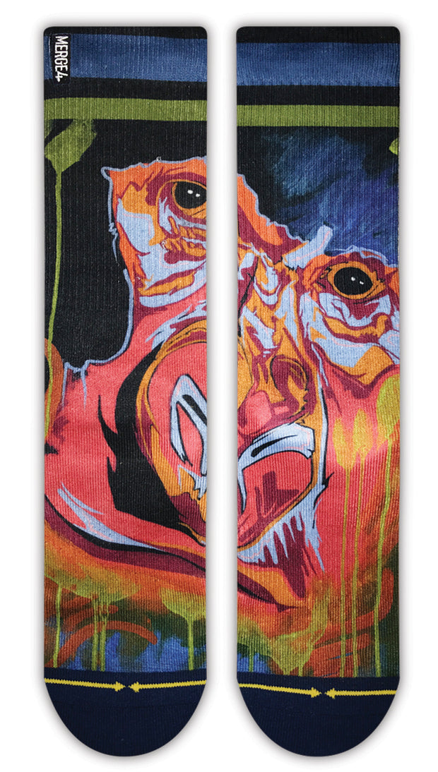 Unisex Merge 4 Gorilla Graffiti Sock