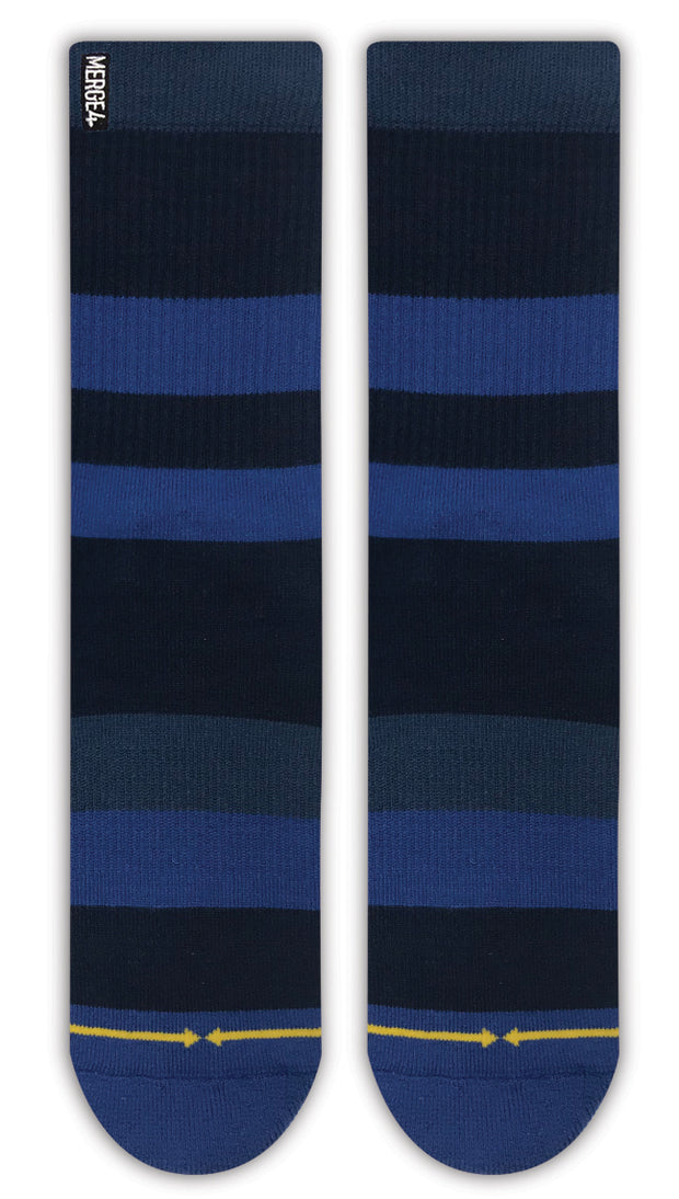 Unisex Merge 4 Midnight Stripe Sock