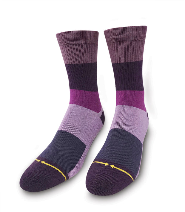 Unisex Merge 4 Purple Stripe Sock