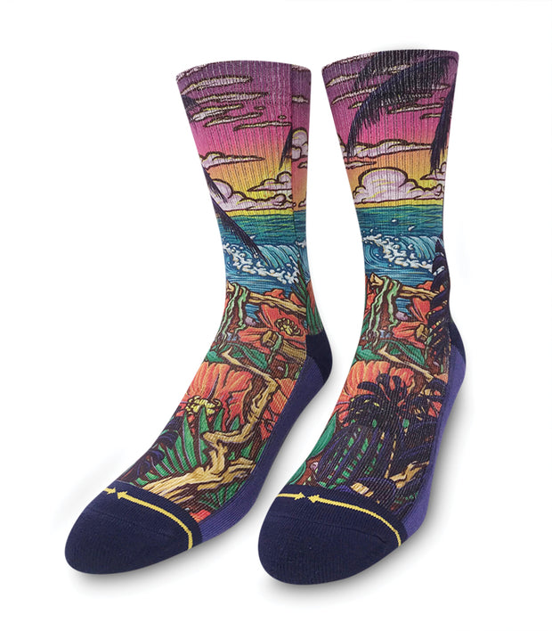 Unisex Merge 4 Slogan Jungle Paradise Sock