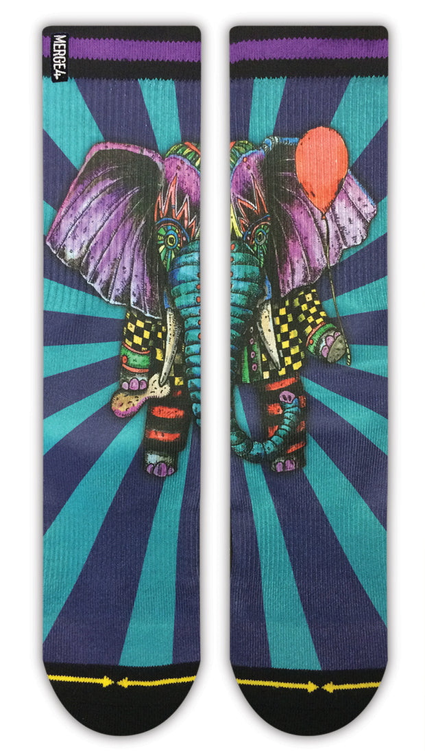 Unisex Merge 4 Elephant Sock