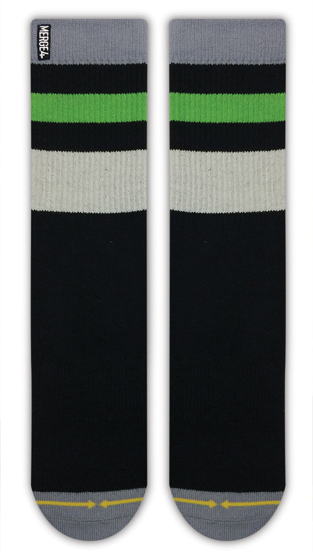 Unisex Merge 4 Haven Black Sock