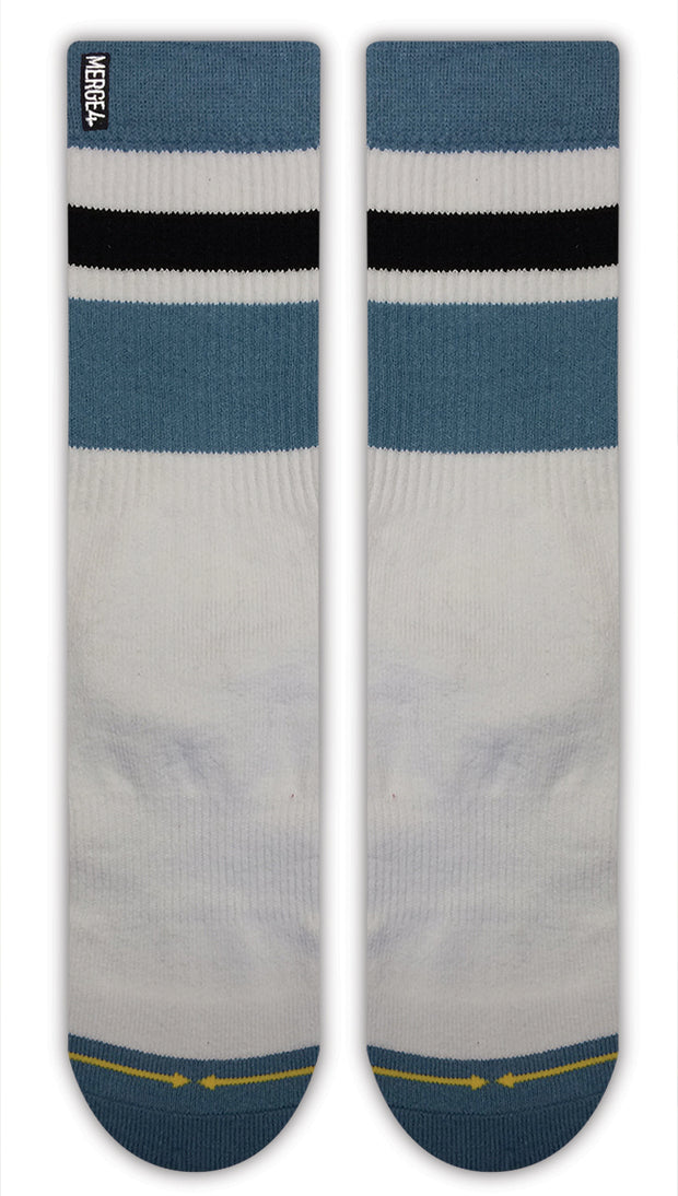 Unisex Merge 4 Haven White Sock