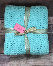 Handmade Small Afgan - Mint Green