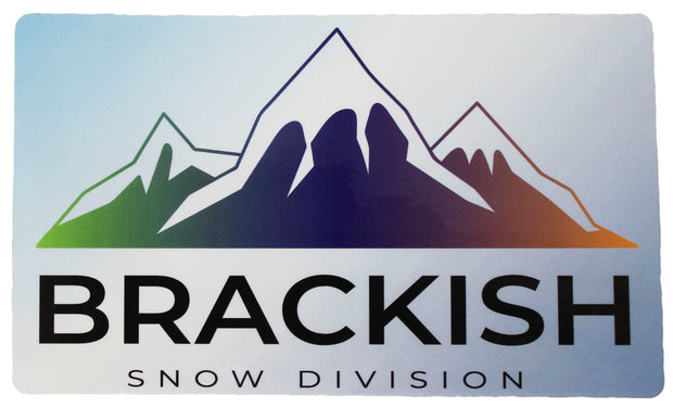 Brackish Waters Snow Division Sticker