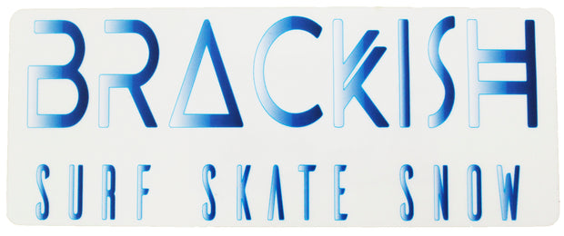 Brackish Waters Surf . Skate . Snow Sticker