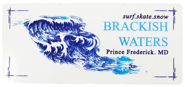 Brackish Waters Wave Sticker