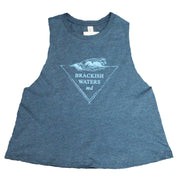 Women's Brackish Waters Wave Triangle Cropped Tank