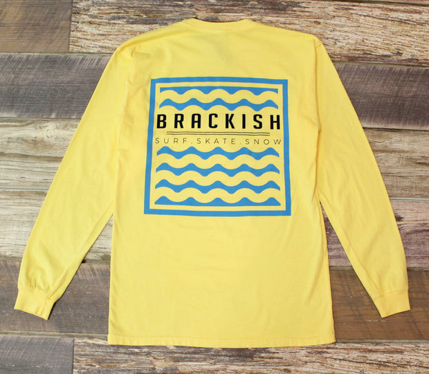 Unisex Brackish Waters Waves Box LS Tee
