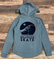 Women's Brackish Skate Wave Washed PO Hood - Blue