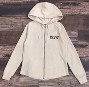 Women's Brackish Skate Wave Washed Zip Hood - Bone