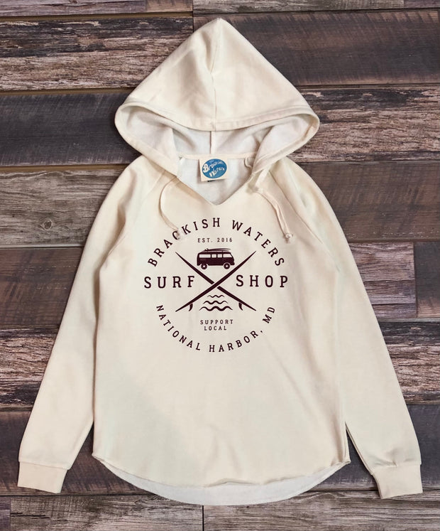 Women's Brackish Surf Van PO Hood - Bone