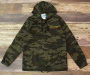 Unisex Brackish Waters Surf. Skate. Snow Water Resistant Hooded Coaches Jacket