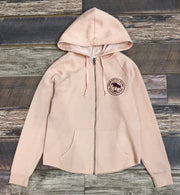 Women's Brackish Girl Gang Zip Up Hoodie - Blush