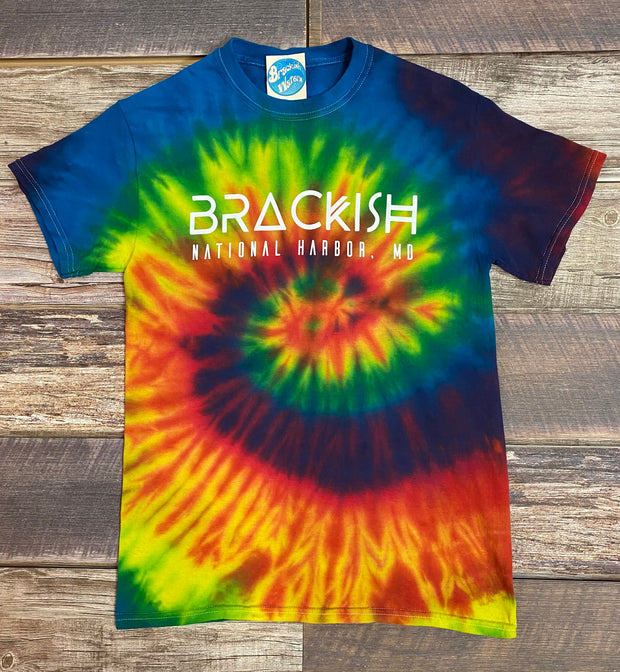 Unisex Brackish National Harbor SS Tie Dye Tee