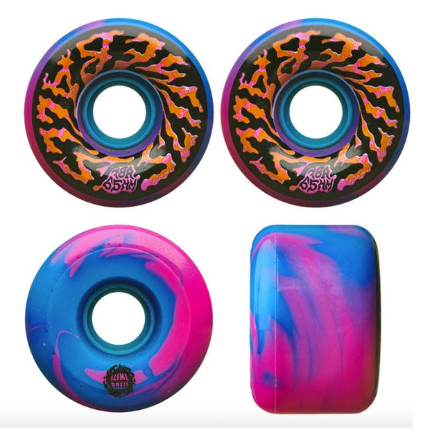 Slime Balls 65mm 78a Swirl Wheels - Pink/Blue - 65mm