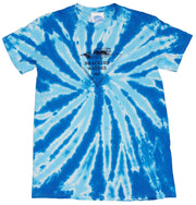 Unisex Brackish Waters Wave Triangle Twist Tie Dye Tee