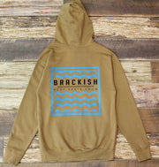 Unisex Brackish Waters Waves Box Popover Hood