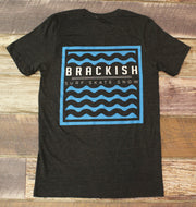 Unisex Brackish Waters Waves Box SS Tee