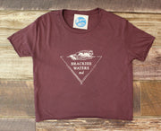 Women's Brackish Waters Triangle Wave Crop Tee