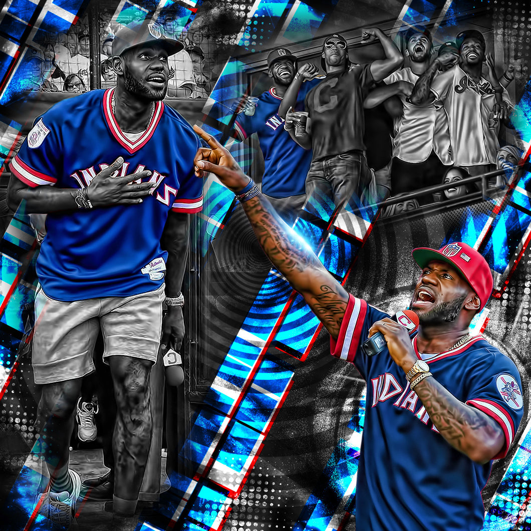 Lebron James Indians Game PSD