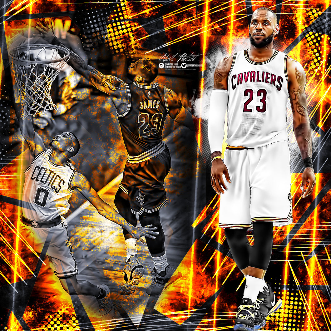 LeBron James Playoff Points Past MJ PSD