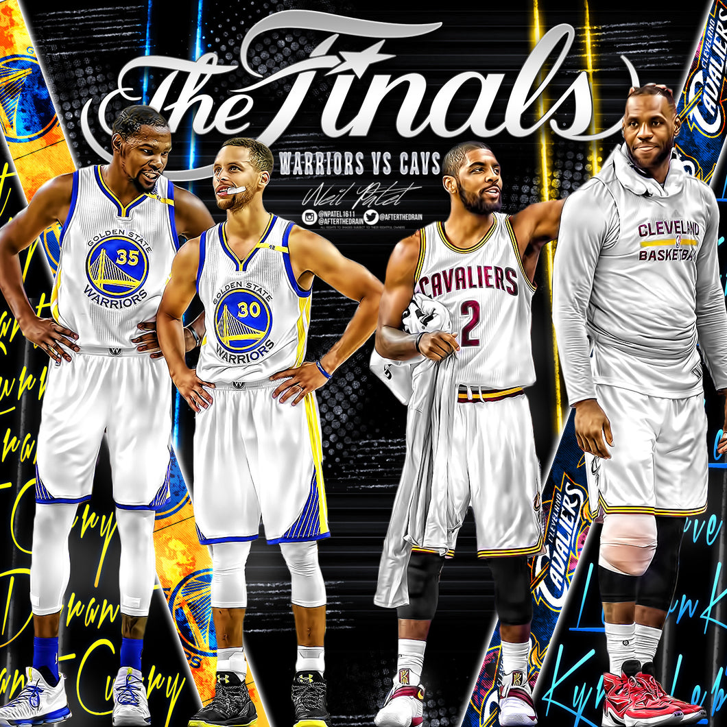 LeBron James x Kyrie Irving x Stephen Curry x Kevin Durant Finals PSD