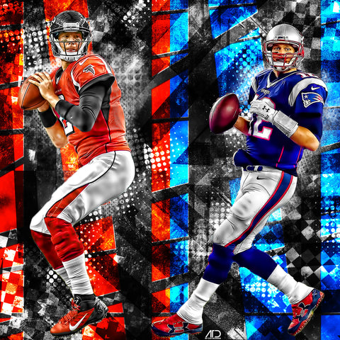 Tom Brady x Matt Ryan Superbowl 51 PSD