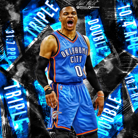 Russell Westbrook Averaging Triple Double Edit PSD