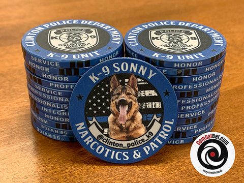 K9 Sonny law enforcement challenge coins