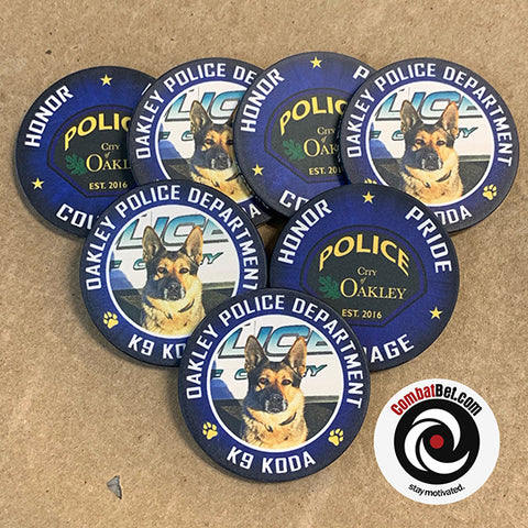 Oakley Police Department K9 Challenge Coins