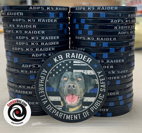 Custom poker chip challenge coin - K9 Raider