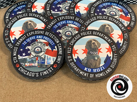 Chicago Police Department - TSA Challenge Coins  K9 Rozi