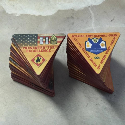 Army National Guard Triangle Challenge Coins