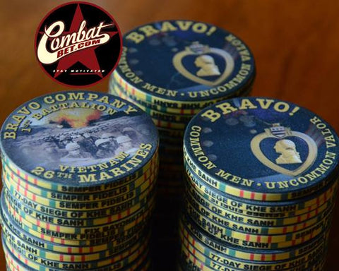 Bravo Company poker chips