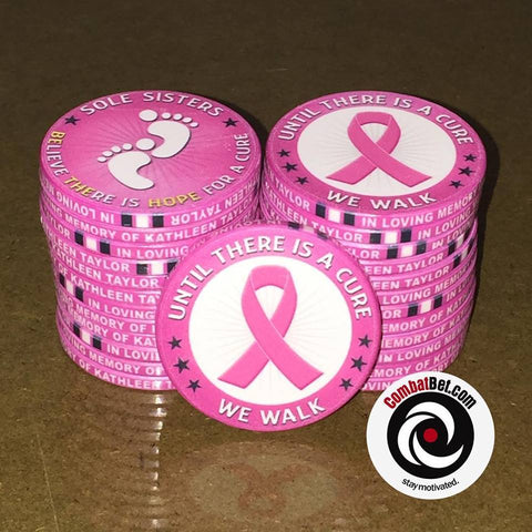 Breast Cancer walk poker chips