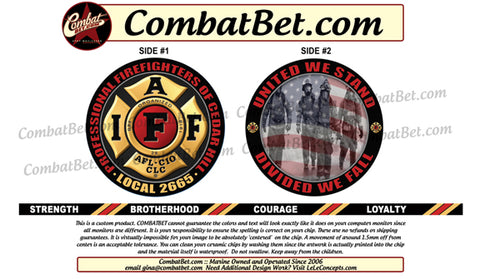 Firefighter Challenge Coins (Custom) Fire Department & EMS
