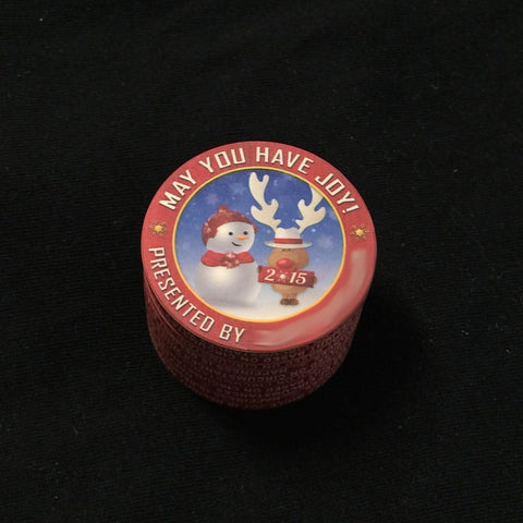 Christmas card poker chips