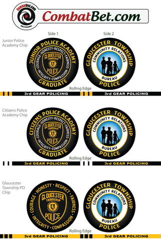 Custom Police / Sheriff Challenge Coins Thin Blue Line, Fallen Officer