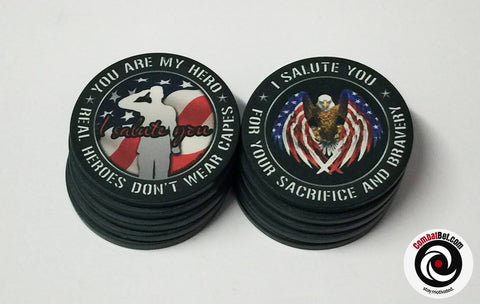 Military Salute challenge coins