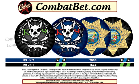Narcotic Police Challenge Coin artwork