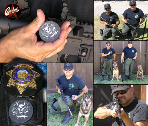 Narcotic police challenge coins photos