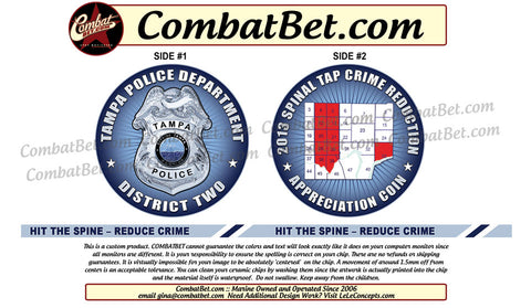 Police appreciation challenge coin