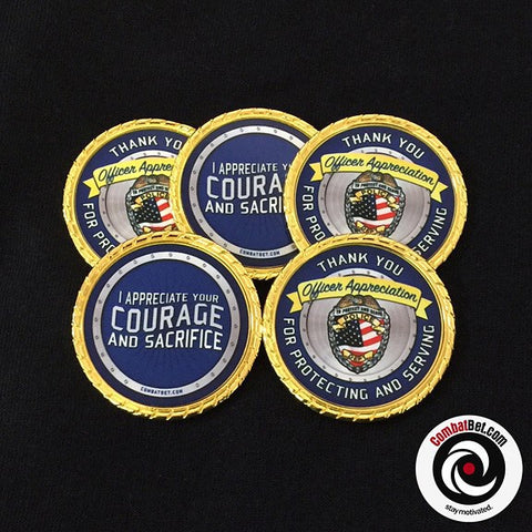 Police officer challenge coins