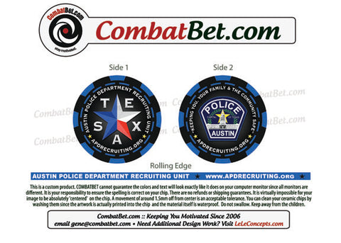 Police recruiting challenge coin