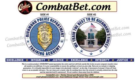 Police Training challenge coins