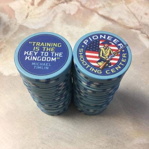 Business card poker chips